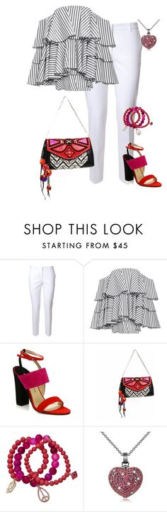 """Marine Layer: Striped Shirts"" by eva-kouliaridou ❤ liked on Polyvore featuring Alberto Biani, Caroline Constas, Paul Andrew, Jimmy Choo, Blu Bijoux, Azhar and stripedshirt"