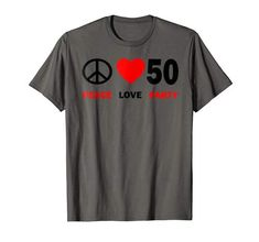 50th Birthday Party Decorations, 40th Birthday Parties, Peace And Love, T Shirts For Women, Party Fun, Amazon, Tees, Mens Tops, Amazons