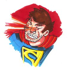 fighters - Superman had a bad day ! Having A Bad Day, Superman, Illustration, Illustrations