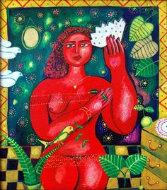 Red woman Disney Characters, Fictional Characters, Woman, Disney Princess, Artist, Red, Painting, Artists, Painting Art