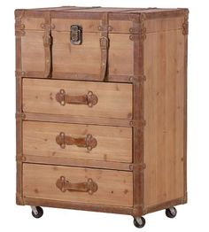Travel Style Trunk chest on castors