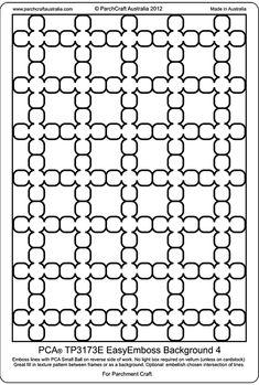 PCA Embossing Parchment Templates TP3151E - TP3175E