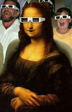 Monalisa no cinema Renaissance Artists, Italian Renaissance, Mona Friends, 3d Cinema, La Madone, Mona Lisa Parody, Mona Lisa Smile, Monalisa, Classic Artwork