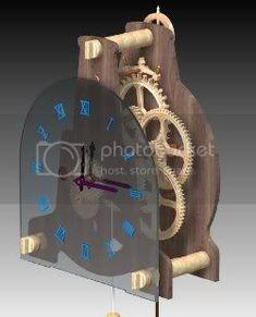 Wooden Clock Plans, Wooden Gear Clock, Wooden Gears, Eccentric, Clocks, Cribs, Woodworking, How To Plan, Wall