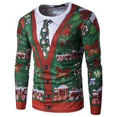 Wenyujh Mens Long Sleeve Fashion Print O Neck Christmas T... https://www.amazon.co.uk/dp/B0758DKM2W/ref=cm_sw_r_pi_dp_x_RCq.zbY26SGV6 #necktattoosmen