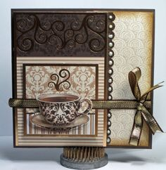 Time for a Cuppa - Scrapbook.com - love this idea.  Could maybe use Tea Shoppe