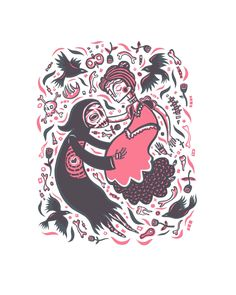 "Tara Murino-Brault ""Death and the Maiden"" Screen print"