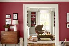 Pantone 2012 color of the year - Tangerine Tango.love the color and love the room Orange Rooms, Red Rooms, Orange Walls, White Walls, Tango, Wythe Blue, Modern Interior, Interior Design, Benjamin Moore Colors