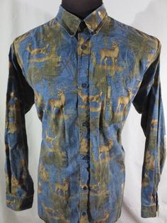 Columbia PHG Performance Hunting Gear Mens XL Long Sleeve Shirt Whitetail Deer  #Columbia #ButtonFront