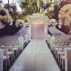 Wedding Chuppah Designs | DREAM Wedding! / Butterfly floral & event design Todays Chuppah at ...