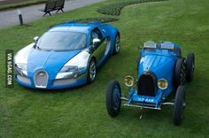 Just some Bugatti then and now
