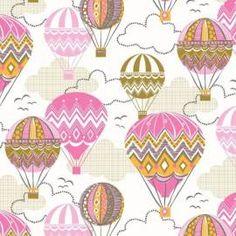 blendfabrics, Balloon Ride Pink, Webstoff, 18,90 EUR / Meter - Bild vergrößern