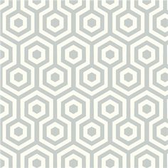 Cole and son hexagons and david hicks on pinterest for Papier peint raye gris et blanc