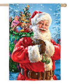 Snow magic santa claus christmas house flag magic santa christmas love this santas magic bag flag on zulily zulilyfinds m4hsunfo Images