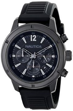 Men  Watches - Nautica Mens N18709G Analog Display Quartz Black Watch ** Read more at the image link. (This is an Amazon affiliate link)