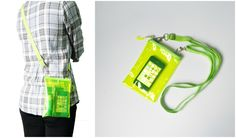 Small Neon Green Clear Transparent Iphone Crossbody Bag   Please visit us at www.etsy.com/shop/Trixiesky   to see more of our wonderful products.