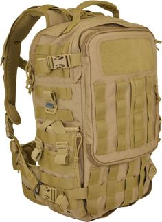Hazard 4 Second Front Rotatable Backpack. 3L Hydration Pocket. Laptop / Tablet Pocket. Admin / map pocket with multiple sleeves. YKK zips. MOLLE. Coyote Tan. Also comes in black.
