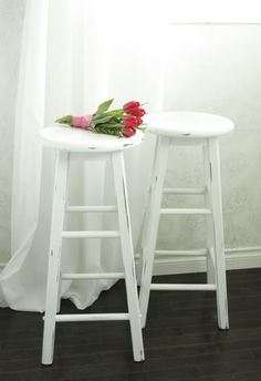 Elegant White Wood Bar Stools   Very Beach