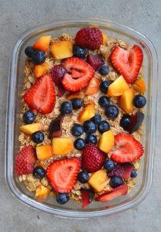 Summer Fruit Baked Oatmeal