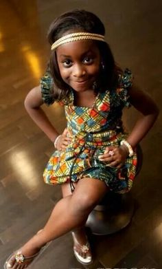 Beautiful little diva ~African fashion, Ankara, kitenge, African women dresses… African Babies, African Children, African Girl, African Wear, African Attire, African Beauty, African Women, African Style, African Inspired Fashion