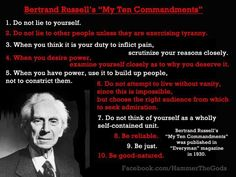 Bertrand Russell's 10 Commandments