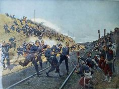 Attack of the Grenadier Guards in Nuits on 18 December 1870 - Carl Röchling (1855-1920)