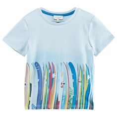 Paul Smith Junior Pale Blue Surf Board Graphic Tee