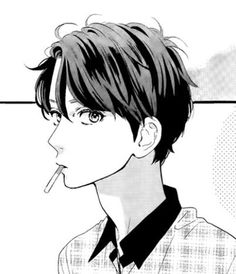 manga, hirunaka no ryuusei, and anime image Dark Anime, Anime Drawings Boy, Anime Monochrome, Daytime Shooting Star, Manga Love, Anime Sketch, Shojo Manga, Anime Characters, Aesthetic Anime