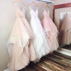 Gorgeous A-line V-neck Spaghetti Straps Long Wedding Dress