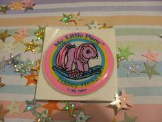 80s puffy My Little Pony sticker