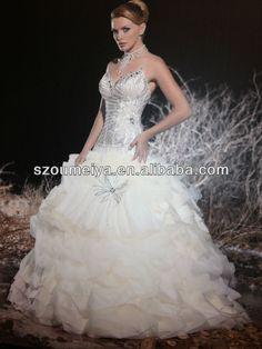 OUMEIYA ONW172 Ball Gown Sweetheart Organza Designer Arabic Wedding Dress 2013