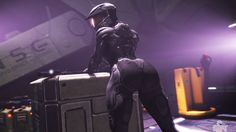 Made with SFM and CS6. Halo 5 upgraded  techsuit by Creepy Chimera with all new flexes for thicker bust, thighs, waist, calves, and even a pregnancy bulge. Yep. Chimera: creepychimera.tumblr.com/