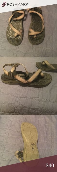 Grey, patterned Chacos Hardly worn Chacos. Super comfy, I have too many so I'm parting with these. Most comfortable shoe you'll ever wear, and they're 8/10 condition at worst. Chaco Shoes Sandals & Flip-Flops