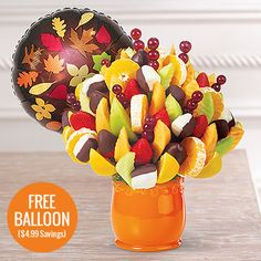 Edible Arrangements - Fresh Fruit Feast Probably originating in Southeast Asia,[4] oranges were already cultivated in China as far back as 2500 BC. Arabo-phone peoples popularized sour citrus and oranges in Europe;[5] Spaniards introduced the sweet orange to the American continent in the mid-1500s.