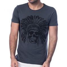 Scorp Graphics Indian Baskılı Erkek Tişört