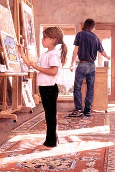 """""""Side by Side"""" (watercolour painting) by Steve Hanks; via Art Renewal Center."""
