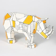 Faceted designs are popular in home decor! Super rhino! #maycocolors