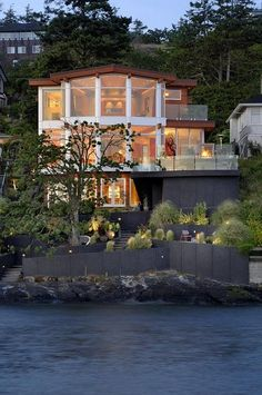 Contemporary Beach front house situated in Gonzales Bay, Victoria BC.