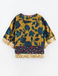 Hotchpotch Square Tee WA637 3/4 Sleeved Tops at Boden