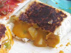 Chicken Chimichangas pie iron recipe