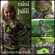 Mini Juliii - Babyschuhfabrik - Fledermausärmel - Feldermausarmshirt, Shirt mit Fledermausarm - auch für Erwachsene erhältlich