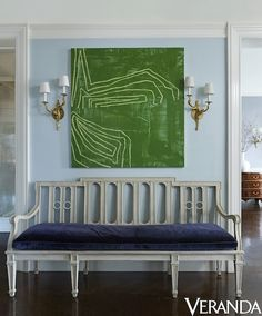 Gorgeous and bright vignette in a pre-war co-op in New York by...