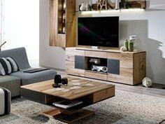 Tavolino ad altezza regolabile quadrato in rovere V-ALPIN | Tavolino - Voglauer