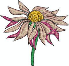 Digital Embroidery Design - Flower