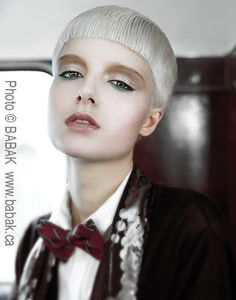 Lucky me! I worked on a photo shot with Vivienne MacKinder with this model. Can't wait to pin it! White Blonde, Blonde Color, Hair Color, Cut And Color, Cut And Style, Makeup For Moms, Pixie Cut, Short Bobs, Hair Inspiration