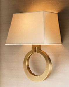 """""""Golden Ring"""" Sconce at Horchow."""