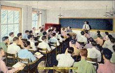 This is so cool! Moody Bible Institute classroom - 153 Institute Place - c. 1950.