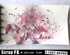 Art journal page Love birds for scrap Fx
