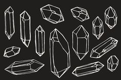 Drawing Doodles Sketches Crystal / Mineral / Gem Drawings by Feanne on Gem Drawing, Painting & Drawing, Typographie Fonts, Crystal Drawing, Illustration Inspiration, Dibujos Tattoo, Jolie Photo, Grafik Design, Crystals Minerals