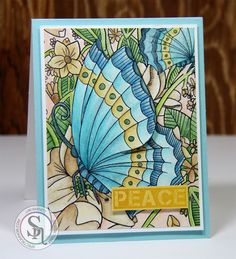 Card project created with Crafter's Companoin Spectrum Noir Colorista Background…